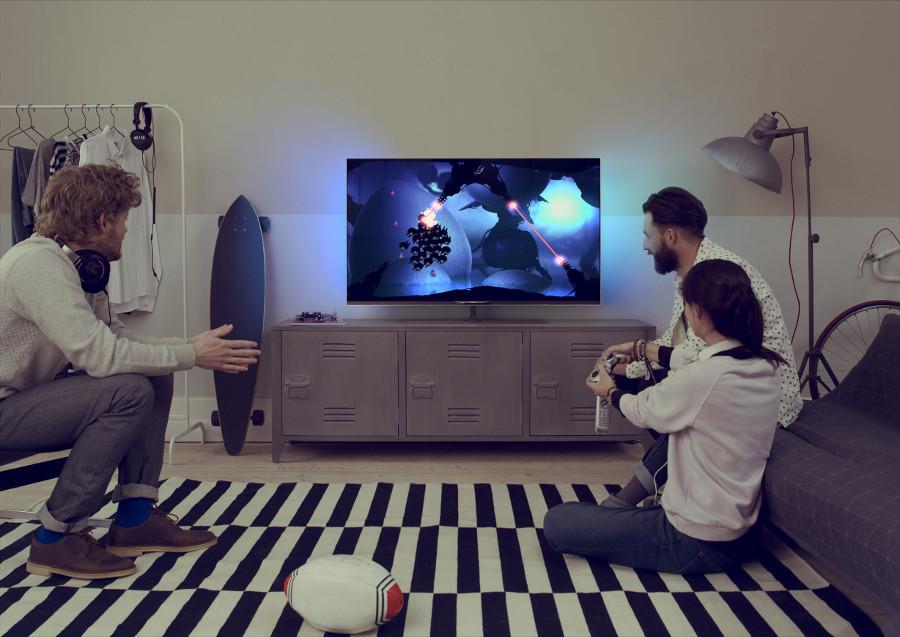 test tv philips 55pus7809 12. Black Bedroom Furniture Sets. Home Design Ideas