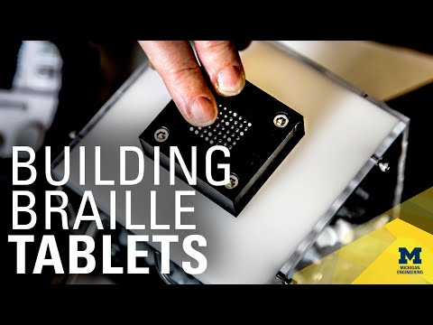 An affordable, refreshable Braille tablet that relies on microfluidics