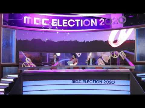 LG Display transparent OLEDs at MBC Korea Election 2020 studio