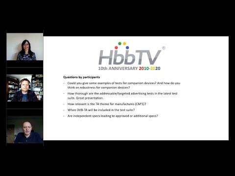 HbbTV Webinar: Testing and Certification