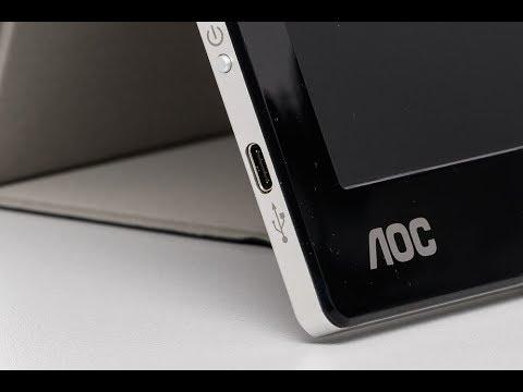 AOC I1601FWUX - USB-C-Monitor mit Smart-Cover