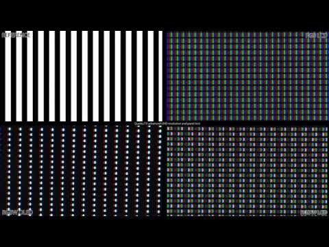 Quality.TV advanced UHD resolution and panel test | Example: RGBW LCD and OLED subpixel analysis
