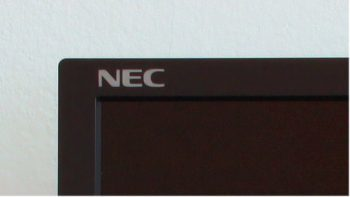 Nec P221w Bk Monitor Gehaeuse Logo Links