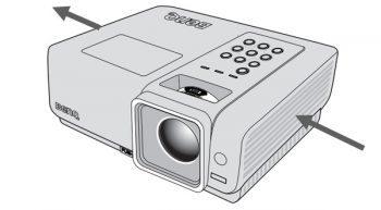 Benq W1000 2 Beamer Luftstrom