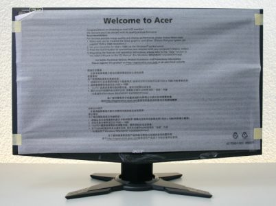 Acer Gd245hqbid Monitor Folie