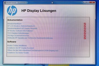 Hp Z24i Monitor ScreenCDMenu