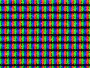 Pixelstruktur eines Monitors in Nahaufnahme