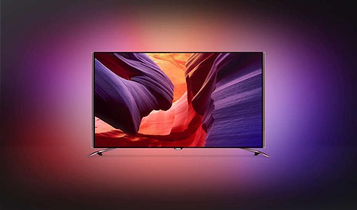 4-seitiges Ambilight umgibt den kompletten Fernseher