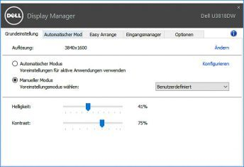 Dell U3818dw Monitor Displaymanager 2