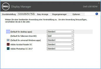 Dell U3818dw Monitor Displaymanager 3