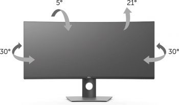 Dell U3818dw Monitor Screens Ergonomie 2