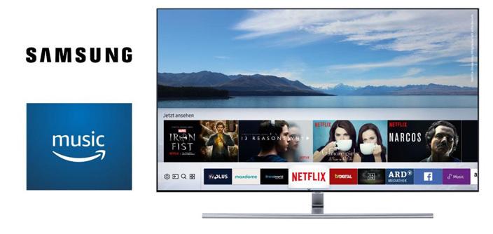 Samsung TV zeigt Amazon Music App