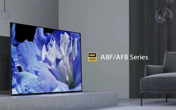 Sony Fernseher AF8 stellt Blume dar