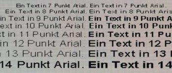 Textwiedergabe 1920 x 1080 (Vollbild)