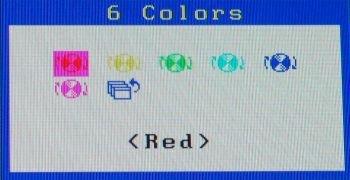 Die 6-Achsen Farbkorrektur im OSD des Eizo SX3031W