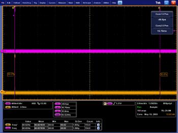 Messung und Vergleich von V-Sync über BNC gegen V-Sync über unseren modifizierten Stecker