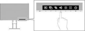 Schnellauswahl mit beliebiger Taste (Screenshot Handbuch EIZO)