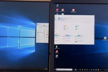 Fensterverschieben von QHD mit 100%-Skalierung nach 4K mit 150%-Skalierung (4K-Monitor)