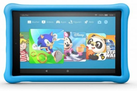 Amazon Fire HD 10 Kids Edition Tablet in blau