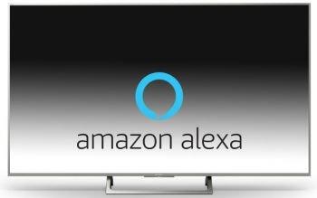 Sony Fernseher mit Alexa Logo
