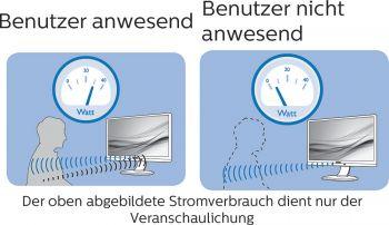 IR-Sensor zum Stromsparen bei Abwesenheit (Screenshot Handbuch Philips)