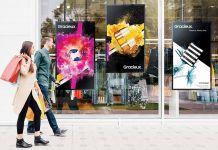 Samsung Schaufenster-Displays der OMN-Serie