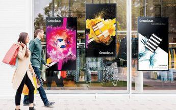 Samsung Schaufenster-Displays der OMN-Serie