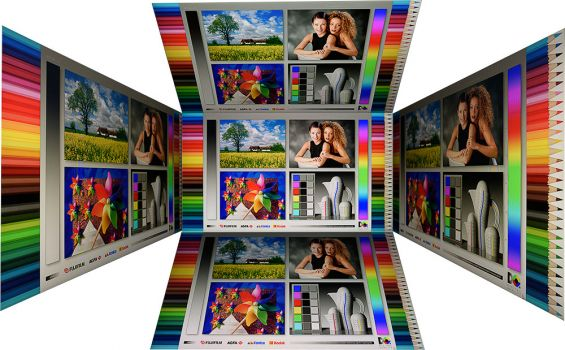 Horizontale und vertikale Blickwinkel vom Panel des ViewSonic VP2458