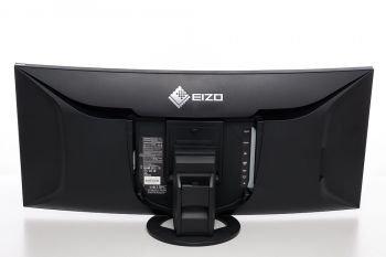 Ansicht Eizo EV3895 von hinten in der niedrigsten Stellung