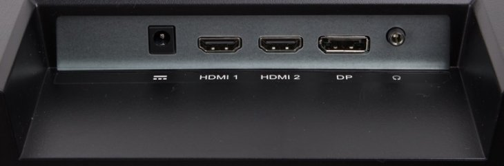 ViewSonic VX3218-PC-MHD Connections: Power, 2 x HDMI, 1 x DisplayPort and Audio