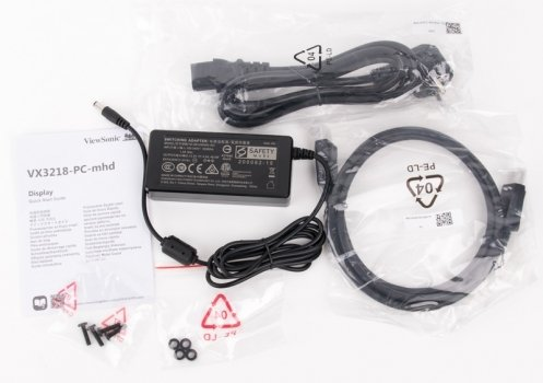 ViewSonic VX3218-PC-MHD Scope of Delivery