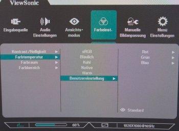 OSD: color settings