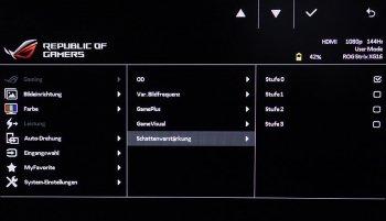 OSD (Shadow Boost): Optimierung der Schwarzstufendarstellung